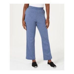 Karen Scott Side-Pocket Active Fleece Sweat Pants